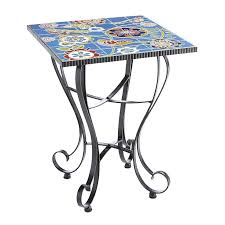 Mosaic Accent Table Wrought Iron Accent Table Colored Bird Mosaic Accent Table Wrought