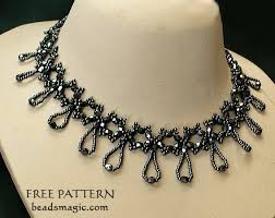 free necklace pattern images Free pattern for necklace nova beads magic jpg