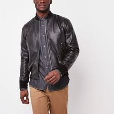 Leather Barn Coat Mens Leather Jackets Roots