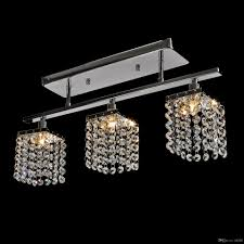 modern foyer pendant lighting best modern 3 lights crystal led ceiling light linear design