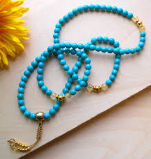 turquoise gold necklace images Turquoise gold mala necklace jpg