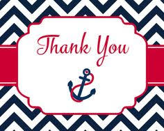 nautical thank you cards nautical thank you cards baby shower birthday by theinviteladyshop