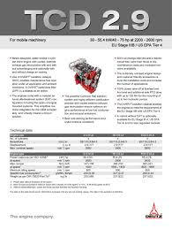 tcd 2 9 l4 engine for industrial applications deutz pdf