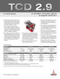 tcd 2 9 l4 engine for industrial applications deutz pdf
