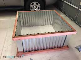 Corrugated Metal Garden Beds Diy Raised Garden Beds With Corrugated Metal
