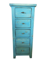 shabby chic lingerie chest beach blue lingerie chest 5 drawers u0026 glass knobs chairish