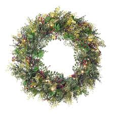 christmas boxwood u0026 berry wreath christmas world