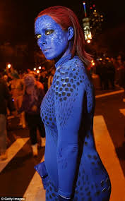Mystique Halloween Costume Halloween Revelers Superheroes Killer Clowns Celebrate