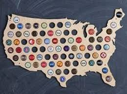 beer cap map wall hanger gifts to get your boyfriend for