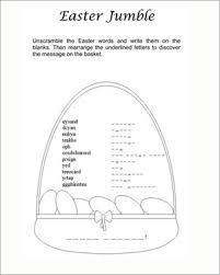easter jumble u2013 printable jumbled words worksheet for easter