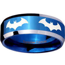 batman wedding ring tungsten blue espresso engagement rings fashion and