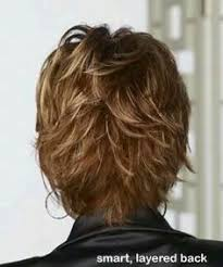 side and back views of shag hairstyle short layerd flip back view flipped short layered hairstyle