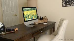 Pottery Barn Writing Desk by My Home Office Makeover This Makes That