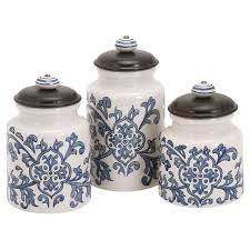 blue and white kitchen canisters kitchen appealing canister sets for kitchen accessories ideas