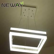 square up down light up down lighting led hanging light square modern crystal chandelier