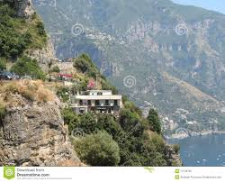 mountainside home by the sea royalty free stock photo image