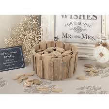 rustic wedding guest book rustic wedding wood chip guest book alternative candy cake weddings