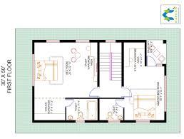 3 bhk floor plan for 30 x 50 plot 1500 square feet 166