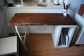 build a reclaimed wood desk apartment therapy