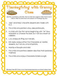 thanksgiving logic puzzle logic puzzles thanksgiving and math