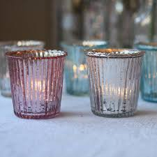 Light Holder by Ribbed Mercury Glass Tea Light Holder By The Wedding Of My Dreams