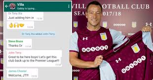 John Terry Meme - aston villa announce john terry signing in outstanding style with
