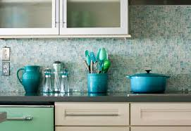 Mosaic Glass Tile Backsplash  Great Home Decor Installing Glass - Teal glass tile backsplash