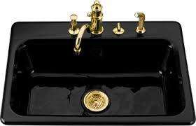 Kohler K Bakersfield Cast Iron SelfRimming Kitchen Sink - Cast iron kitchen sinks