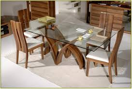 Rectangle Glass Dining Room Tables Rectangular Glass Top Dining Table Best Gallery Of Tables Furniture