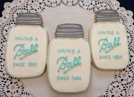 ball mason jar cookies 60 00 via etsy add mom and dad u0027s birth