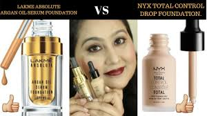 Serum Nyx lakme absolute argan serum foundation vs nyx total drop