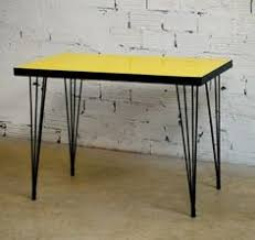 table cuisine formica 50 vintage bazar table cuisine formica jaune ée 60 certain pieces