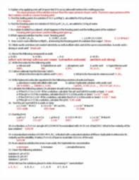 review sheet honors chemistry 16 review concepts to know unit 14