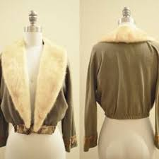 50 s fur collar sweater weiss furs vintage by christysatticdoor