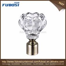 Glass Curtain Rod Crystal Glass Finials For Curtain Rods Crystal Glass Finials For