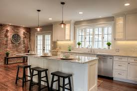 kitchen center island with seating shaker painted cabinets kitchen design gallery