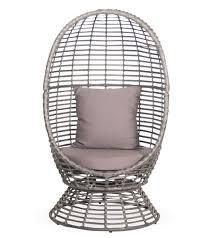 egg swivel pod chair patio warehouse