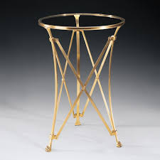 Brass Side Table Directoire Brass Side Table Georgian America