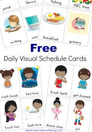 daily visual schedule kids free printable natural beach living
