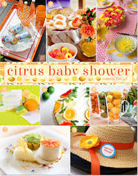 a citrus themed baby shower