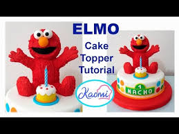 elmo cake topper how to make elmo cake topper cómo hacer a elmo para tortas