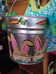 painted easter buckets josephine s