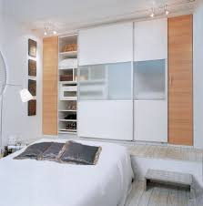 Bedroom Cupboard Doors Ideas Bedroom Gorgeous Bedroom Design With Brown And White Sliding Doors
