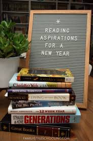 12 week year book reading aspirations for a new year family style schooling