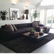 Best  Black Couch Decor Ideas On Pinterest Black Sofa Big - Living room decor with black leather sofa