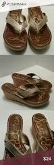 sam edelman size 9m gold cork wedge flip flop cas we and the o u0027jays