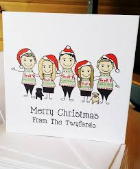 10 jumper caricature personalised cards