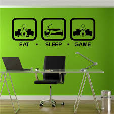 aliexpress com buy eat sleep game wall decal gaming joystick