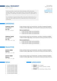 Resume Template For A Ueno Professional Resume Template