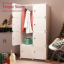 Cloth Closet Doors Tespo Portable Clothes Closet Wardrobe Freestanding